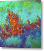Abstract Pallet Oil Color Metal Print