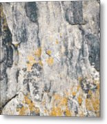 Abstract Texture Old Plaster Metal Print