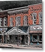Abstract Town Metal Print