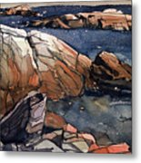 Acadia Rocks Metal Print by Donald Maier