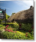 Adare Thatch Roof Cottages Ireland Metal Print