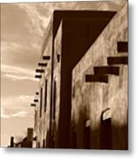 Adobe Sunset Metal Print
