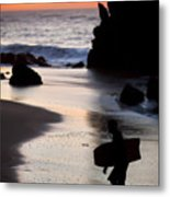 Adraga Beach In Sintra Natural Park Metal Print