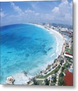 Aerial Of Cancun Metal Print