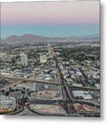 Aerial View Of Las Vegas City Metal Print