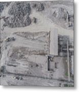Aerial View Of Open Pit Sand Quarries.  View From Above.  Metal Print