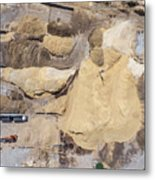 Aerial View Over The Sandpit. Industrial Place In Poland. Metal Print