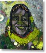 African Bead Painting Metal Print