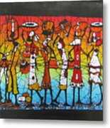 African Woman Carrying On Head Metal Print
