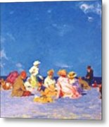 afternoon fun Edward Henry Potthast Metal Print