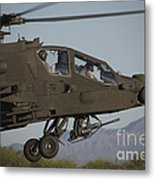Ah-64d Apache Longbow Lifts Metal Print