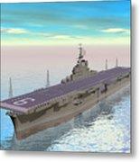 Aircraft Carrier - 3d Render Metal Print
