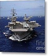 Aircraft Carrier Uss Ronald Reagan Metal Print
