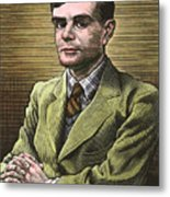 Alan Turing, British Mathematician Metal Print by Bill Sanderson