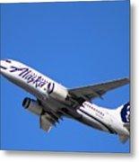 Alaska Airlines 737-800 Metal Print