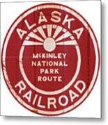Alaska Railroad Aged Metal Print
