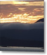Alaskan Coast Sunset, View Towards Kosciusko Or Prince Of Wales  Metal Print