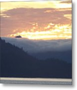 Alaskan Coast, View Towards Kosciusko Or Prince Of Wales Islands Metal Print