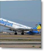 Allegiant Air Mcdonnell-douglas Md-83 N429nvmesa Gateway Airport Arizona March 11 2011 Metal Print