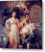 Allegory Of The City Of Madrid Metal Print