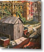 Alley With Ashpits Metal Print