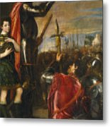 Allocution Of Marquis Del Vasto To His Troops Metal Print