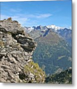 Alps Mountain Landscape  Metal Print