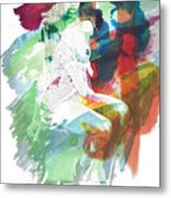 Amani African American Nude Fine Art Painting Print 4974.03 Metal Print