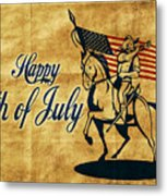 American Cavalry Soldier Metal Print