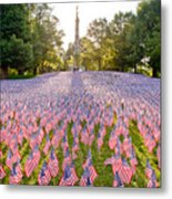 American Flags Metal Print by Susan Cole Kelly