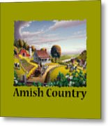 Amish Country T Shirt - Appalachian Blackberry Patch Country Farm Landscape Metal Print