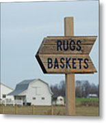 Amish Sign Metal Print