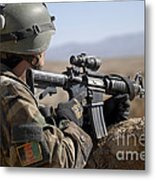 An Afghan Commando Scans The Horizon Metal Print