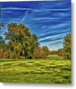 An Autumn Golf Day Metal Print