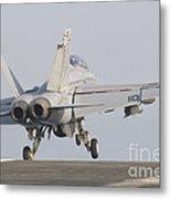 An Fa-18f Super Hornet Taking Metal Print