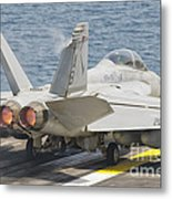 An Fa-18f Super Hornet Taking Off Metal Print