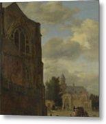 An Imaginary View Of Nijenrode Castle Metal Print
