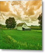 An Iowa Farm Metal Print