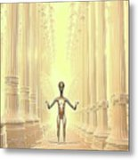 Ancient Alien Angel Metal Print