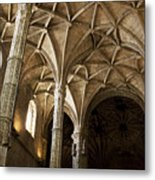 Lisbon Cathedral's Ancient Arches  Metal Print