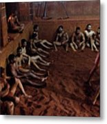ancient wrestlers of India  Metal Print