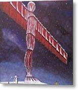 Angel Of The North Christmas Metal Print