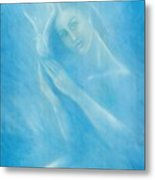 Angel With Dove Metal Print