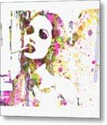 Angelina Jolie 2 Metal Print by Naxart Studio