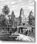 Angkor Wat, Cambodia, 1868 Metal Print