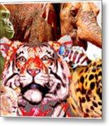 Animal Collage, Digital Art Metal Print