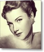 Anne Baxter, Vintage Actress Metal Print