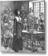 Anne Hutchinson (1591-1643) Metal Print by Granger