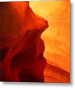 Antelope Canyon - Stone Face Metal Print