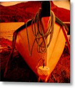 Antique Bow And Rope Metal Print